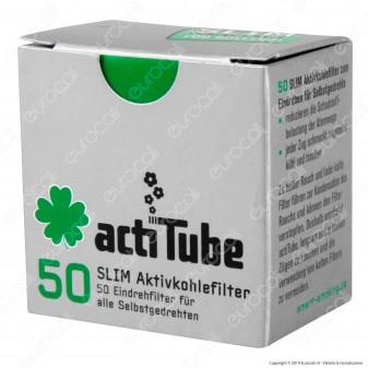 ActiTube Filtri Slim 7mm Carboni Attivi - Scatolina da 50 Filtri