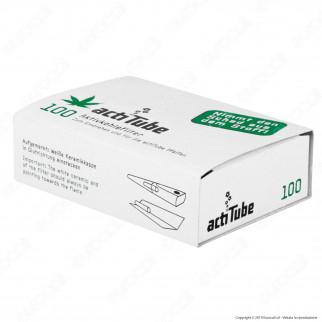 ActiTube Filtri Regular 8mm Carboni Attivi - Scatolina da 100 Filtri