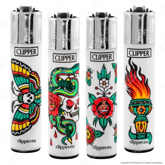 Clipper Large Fantasia Skulls Tattoo 4 - 4 Accendini