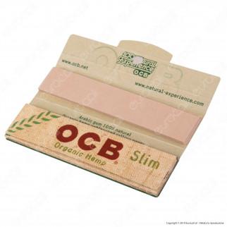 OCB Organic Hemp Pack Cartine King Size Slim Canapa Biologica Lunghe e Filtri in Carta - Scatola da 32 Libretti