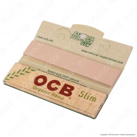 OCB Organic Hemp Pack Cartine King Size Slim Canapa Biologica Lunghe e Filtri in Carta - Libretto Singolo