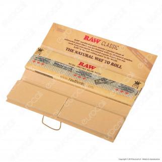 Raw Connoisseur Cartine Classic King Size Slim Lunghe e Filtri in Carta - Libretto Singolo