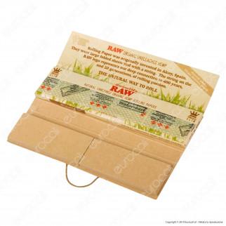 Raw Connoisseur Cartine Organic Hemp King Size Slim Lunghe e Filtri in Carta - Scatola da 24 Libretti