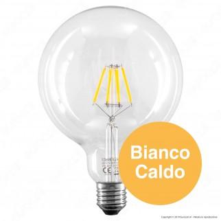 Ideal Lux Lampadina LED E27 8W Globo G125 Filamento - mod. 101347 / 153988