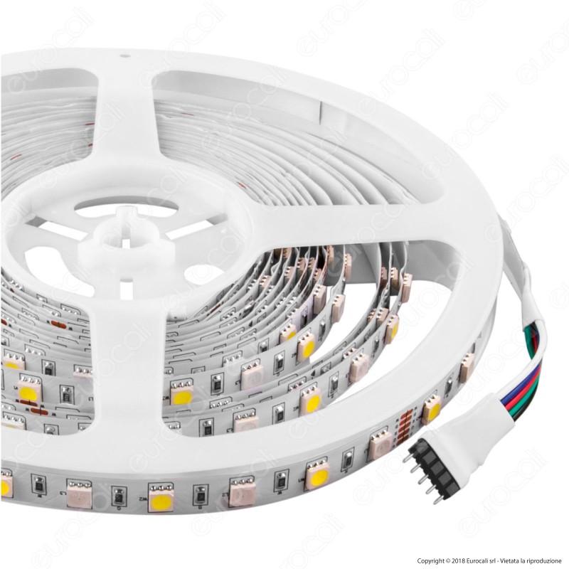 V-Tac Striscia LED 5050 Multicolore RGB+W 60 LED/metro - Bobina da 5 metri - SKU 2159 [TERMINATO]