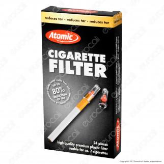 Atomic Filtri Eco Pack in Plastica Riutilizzabili per Sigarette - Box da 24 Scatoline