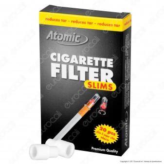 Atomic Cigarette Filter Eco Pack Filtri Slim in Plastica Riutilizzabili per Sigarette - Box da 20 Scatoline