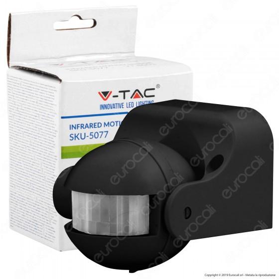 V-Tac VT-8003 Sensore di Movimento a Infrarossi per Lampadine - SKU 5077