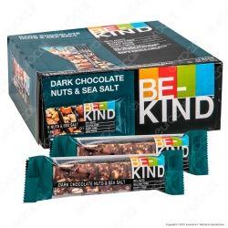 Be-Kind Snack con Cioccolato Fondente, Frutta Secca e Sale Marino - Box con 12 Barrette da 40g