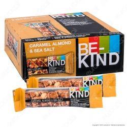 Be-Kind Snack con Caramello, Mandorle e Sale Marino - Box da 12 Barrette da 40g