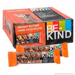 Be-Kind Snack con Burro di Arachidi e Cioccolato Fondente - Box da 12 Barrette da 40g