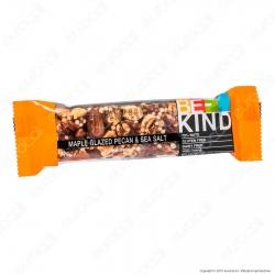Be-Kind Snack con Noci Pecan Glassate allo Sciroppo d'Acero e Sale Marino - 1 Barretta da 40g