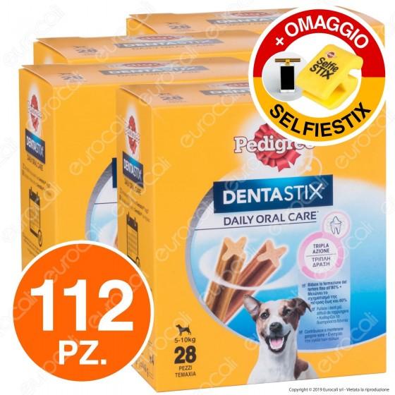 112 Pedigree Dentastix Small per l'igiene orale del cane - 4 Confezioni da 28 Stick