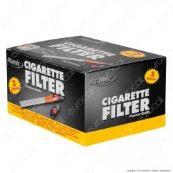Atomic Cigarette Filter Microbocchini in Plastica Riutilizzabili per Sigarette Standard - Box 72 Scatoline da 2