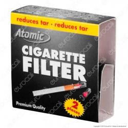 Atomic Cigarette Filter Microbocchini in Plastica Riutilizzabili per Sigarette Standard - Scatolina Singola