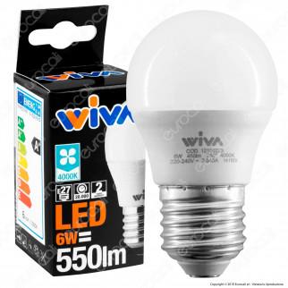 Wiva Lampadina LED E27 6W MiniGlobo G45 - mod. 12100222 / 12100223 / 12100273