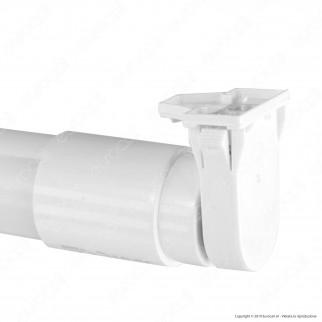 Life Portalampada per Lampadine LED Tubi T8 Attacco T13 con Clip - mod. 39.PH139