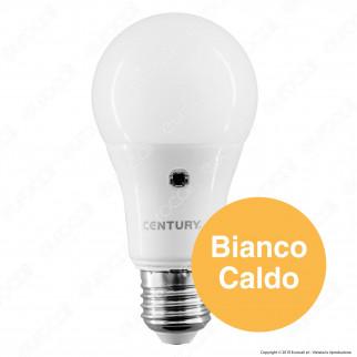 Century LED Sensor Lampadina Led E27 10W Bulb A60 con Sensore Crepuscolare - mod. G3SP-102730 / G3SP-102740 / G3SP-102764