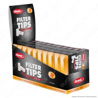 Atomic Filtri Regular Filter Tips 8mm con Colla - Box 20 Scatoline da 100 Filtri