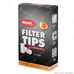 Atomic Filtri Regular Filter Tips 8mm con Colla - Scatolina da 100 Filtri