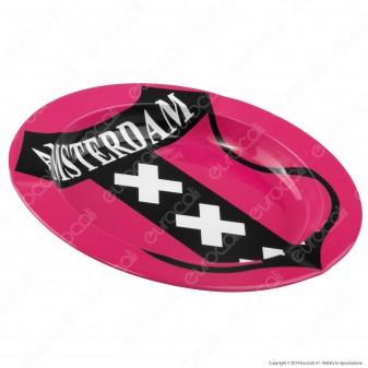Amsterdam Posacenere da Tavolo Rotondo in Metallo - Amsterdam XXX