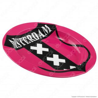 Amsterdam Posacenere da Tavolo Rotondo in Metallo - XXX