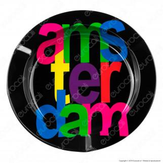 Amsterdam Posacenere da Tavolo Rotondo in Metallo - Ams-ter-dam