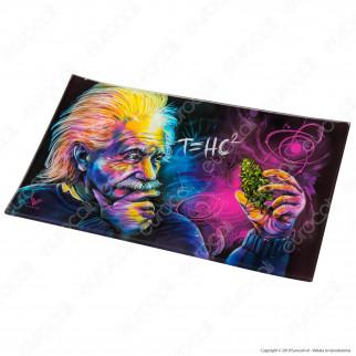 V-Syndicate Rolling Tray Vassoio di Rollaggio in Vetro - Fantasia Einstein