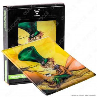 V-Syndicate Mini Rolling Tray Vassoio di Rollaggio in Vetro - Fantasia Mad Hatter