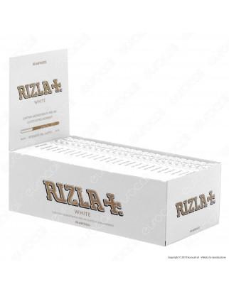Cartine Rizla White Corte Bianche - Scatola da 50 Libretti