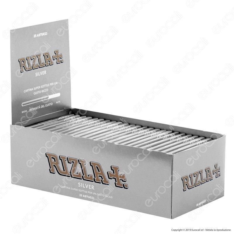 Box da 100 Libretti Cartine Rizla Silver Corte Argento