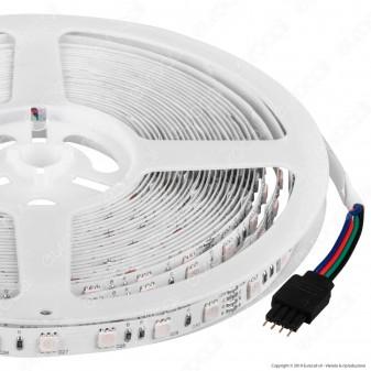 V-Tac VT-5050-60 Striscia LED SMD 5050 24V Multicolore RGB 60LED/metro - Bobina da 10 metri - SKU 2592