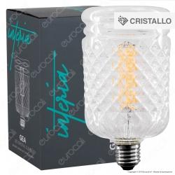 Daylight Interia GEA Lampadina LED E27 Filamento 6W Tubolare Effetto Cristallo Dimmerabile CRI≥90 - mod. 700279.0IA
