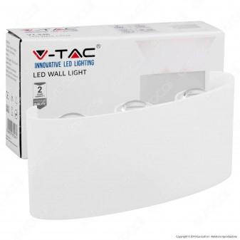 V-Tac VT-846 Applique Lampada da Muro Wall Light Bianca con 6 LED COB 6W - SKU 8613 / 8614