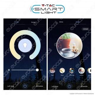 V-Tac Smart VT-5141 Plafoniera LED 40W RGB+W 3in1 Wi-Fi Forma Circolare Effetto Cielo Stellato - SKU 1497