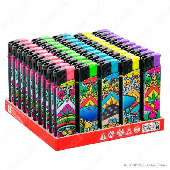 SmokeTrip Accendini Elettronici Ricaricabili Fantasia Magic Mushroom - Box da 50 Accendini