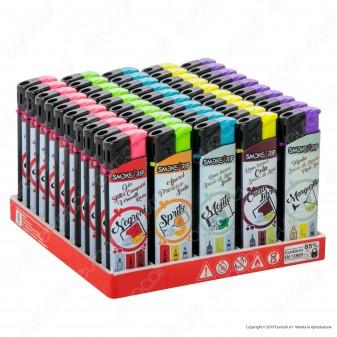 SmokeTrip Accendini Elettronici Ricaricabili Fantasia Cocktails - Box da 50 Accendini