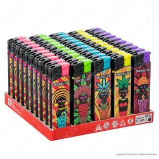 SmokeTrip Accendini Elettronici Ricaricabili Fantasia African Batik - Box da 50 Accendini