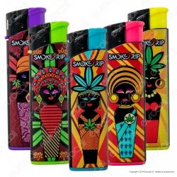 SmokeTrip Accendini Elettronici Ricaricabili Fantasia African Batik - 5 Accendini