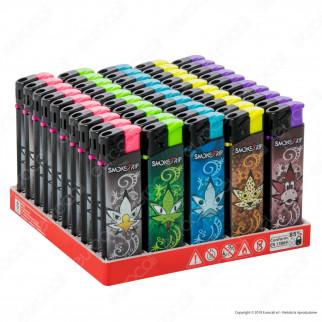 SmokeTrip Accendini Elettronici Ricaricabili Fantasia Animal Leaves - Box da 50 Accendini