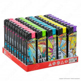 SmokeTrip Accendini Elettronici Ricaricabili Fantasia Magic City - Box da 50 Accendini