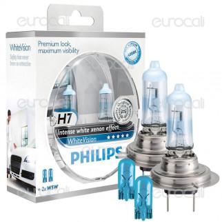 Philips White Vision Effetto Xenon - Kit 2 Lampadine H7 + 2 W5W