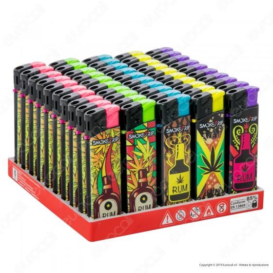 SmokeTrip Accendini Elettronici Ricaricabili Fantasia Rum Trip - Box da 50 Accendini
