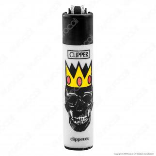 Clipper Micro Fantasia Skull Kings - Box da 48 Accendini