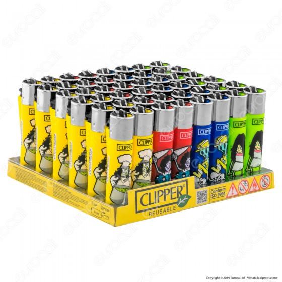 Clipper Large Fantasia Zombies 3 - Box da 48 Accendini