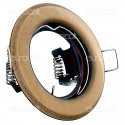 Kanlux ARGUS CT-2114-BR/M Portafaretto Rotondo da Incasso per Lampadine GU10 e GU5.3 - mod.324