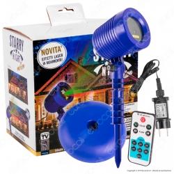 Intergross Starry Night Motion Proiettore Luce con Effetti Laser in Movimento - mod. IGZ 68