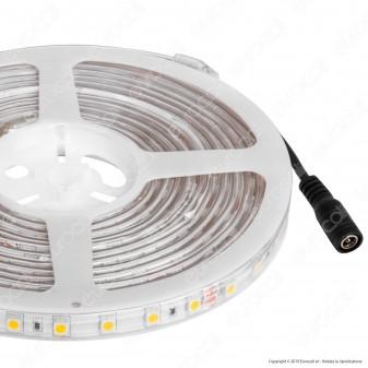 V-Tac VT-5050 Striscia LED Impermeabile Monocolore 60 LED/metro 24V - Bobina da 5 metri - SKU 2562 / 2563 / 2564