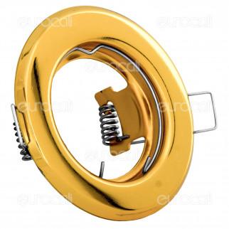 Kanlux ARGUS CT-2114-G Portafaretto Rotondo da Incasso per Lampadine GU10 e GU5.3