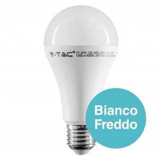 10 Lampadine LED V-Tac VT-2015 E27 15W Bulb A65 - Pack Risparmio